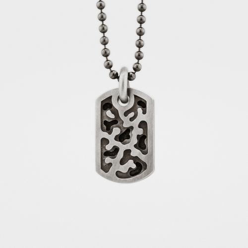 Small Camouflage Dog Tag | Silver