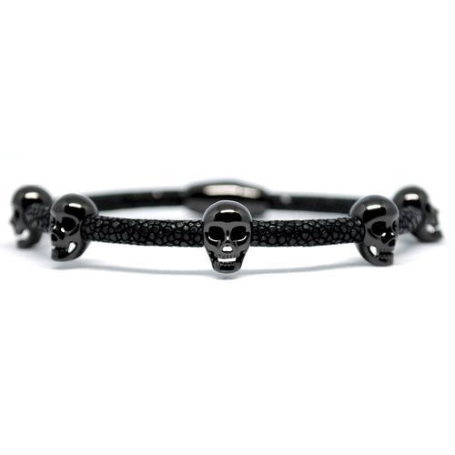 Bracelet | Multi Skull | Black