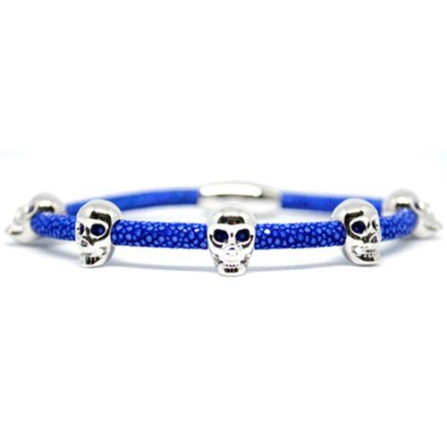 Bracelet | Multi Skull | Blue/Silver