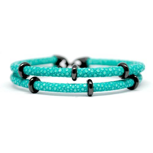 Bracelet | 2x Sting | Turquoise/Black