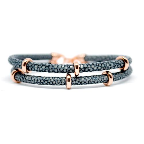 Bracelet | 2x Sting | Gray/Rose Gold