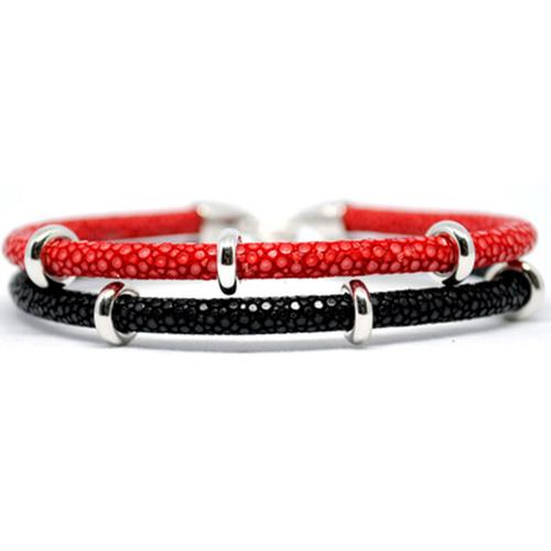 Bracelet | 2x Sting | Red/Black/Silver