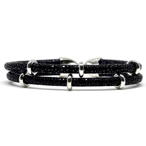 Bracelet | 2x Sting | Black/Silver