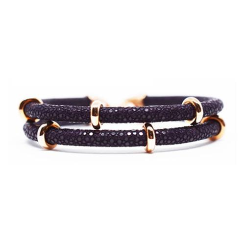 Bracelet   2x Sting   Purple/Rose Gold