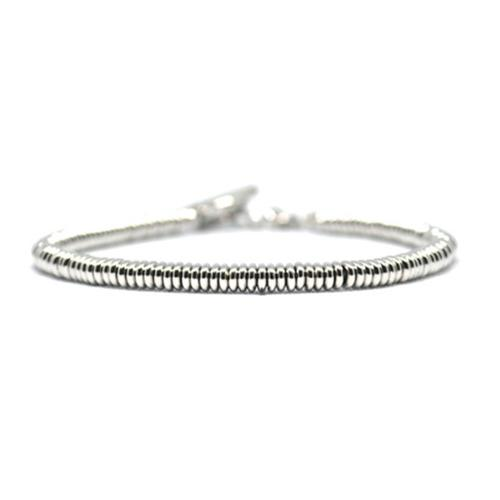 Bracelet | Single Beads | White Gold
