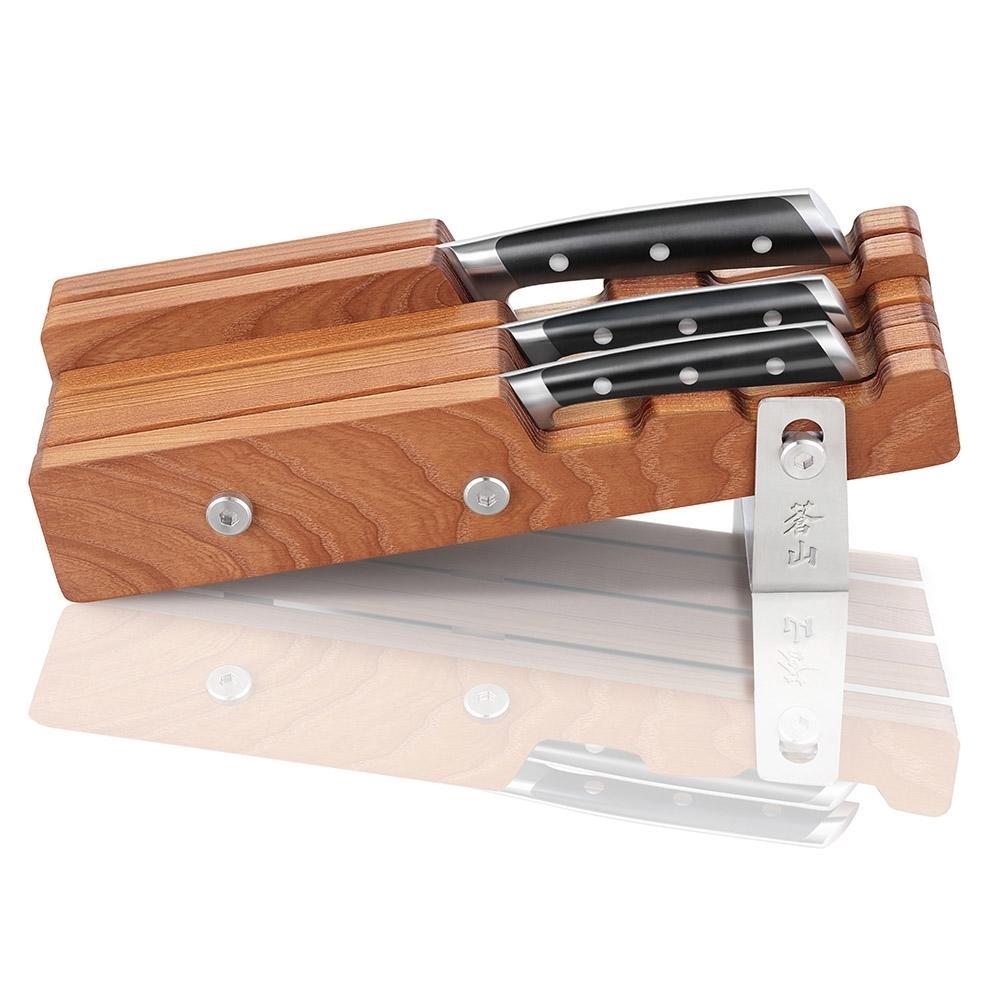 S Series   4-Piece Set   Ash Wood Block   Cangshan