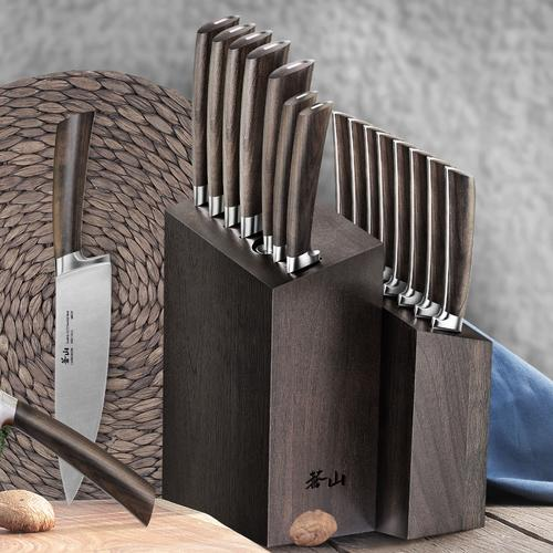 A Series 16-Piece Set | African Blackwood Handle | Cangshan