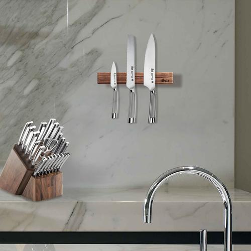 12-Inch Walnut Wood Magnetic Knife Bar | Cangshan