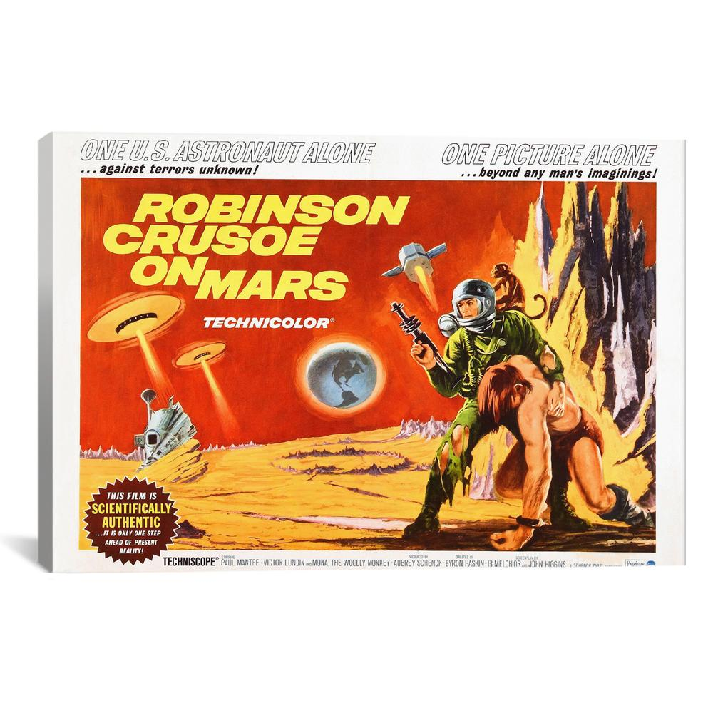 Robinson crusoe on mars vintage movie poster - Robinson crusoe style ...