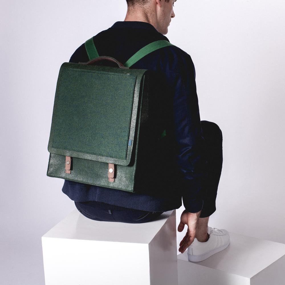 Mateo Felt Backpack   Long-lasting Structure   MRKT Bags