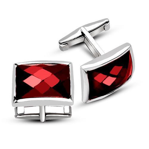 Red Zircon Stone Cufflinks