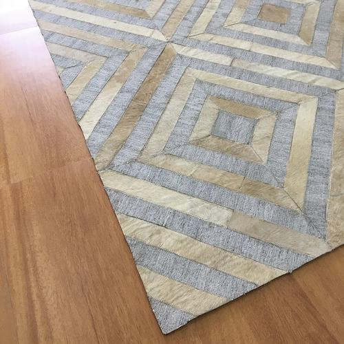 Leather Gray Ivory Rug