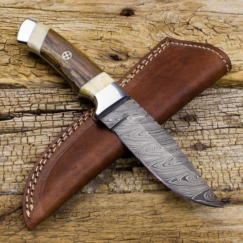 Victorio Apache Warrior Damascus Steel Dual Bolster Hunting