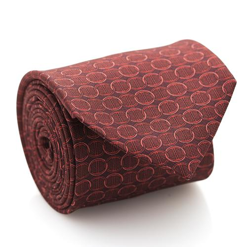 Necktie | Red with Circle Pattern
