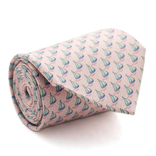 Necktie | Pink / Rose with Sailboats Pattern