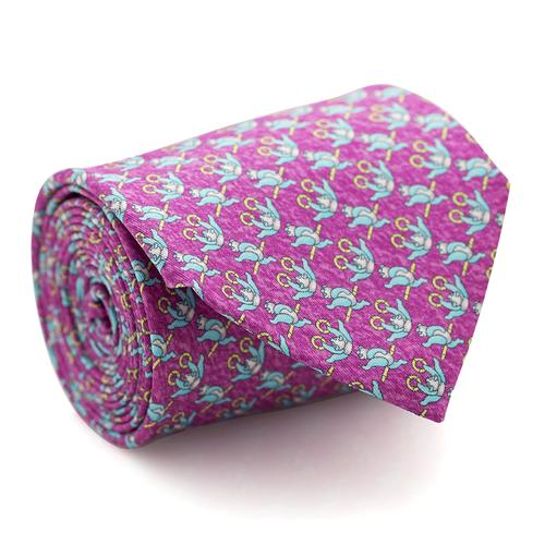 Necktie | Lilac with Panda Pattern