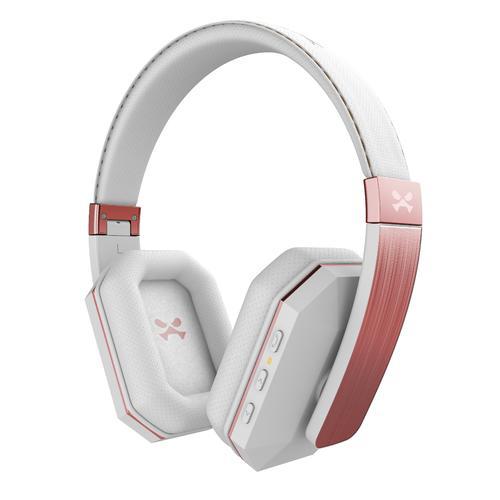 soDrop 2.0 Wireless Bluetooth Headphones   White   Rose