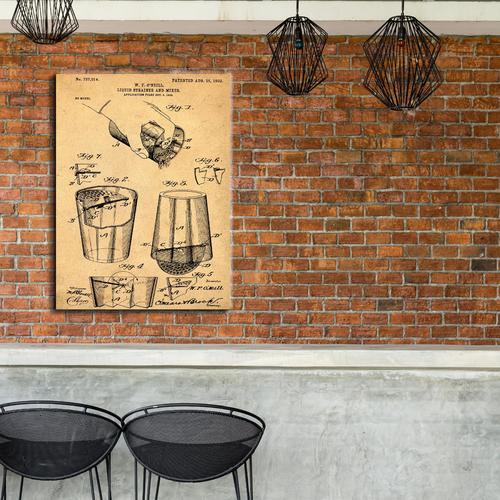 Cocktail Mixer-1903 Sepia/Antique   Canvas