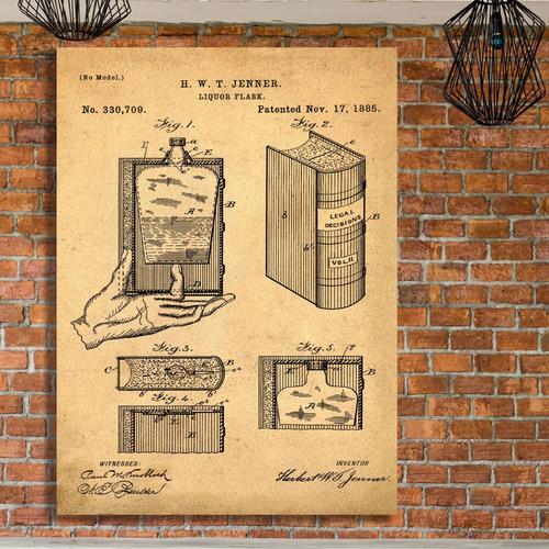 Hidden Flask-Sepia/Antique   Canvas