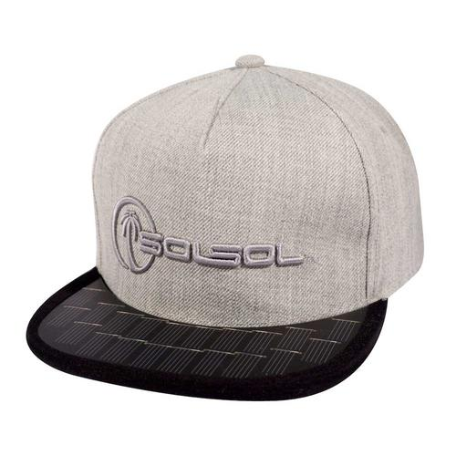 The Solar Charger Hat   Heather Gray/Black