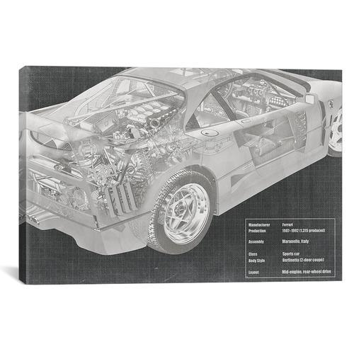 Engine and Interior X-Ray Blueprint