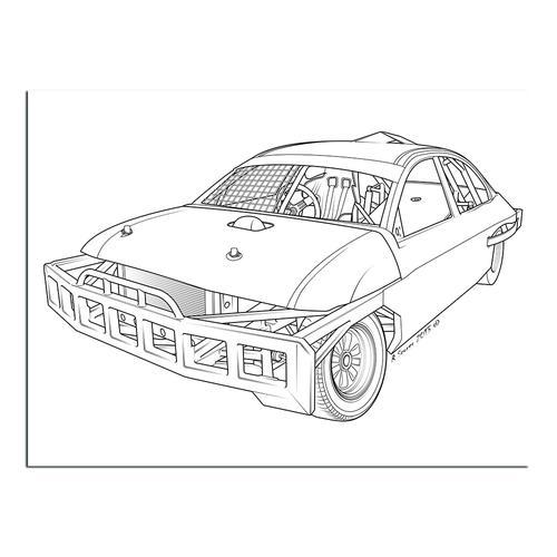 Stock car  I   Paper