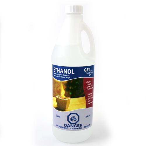 Gel Ethanol | 32oz Refill Bottle | 12 Pack