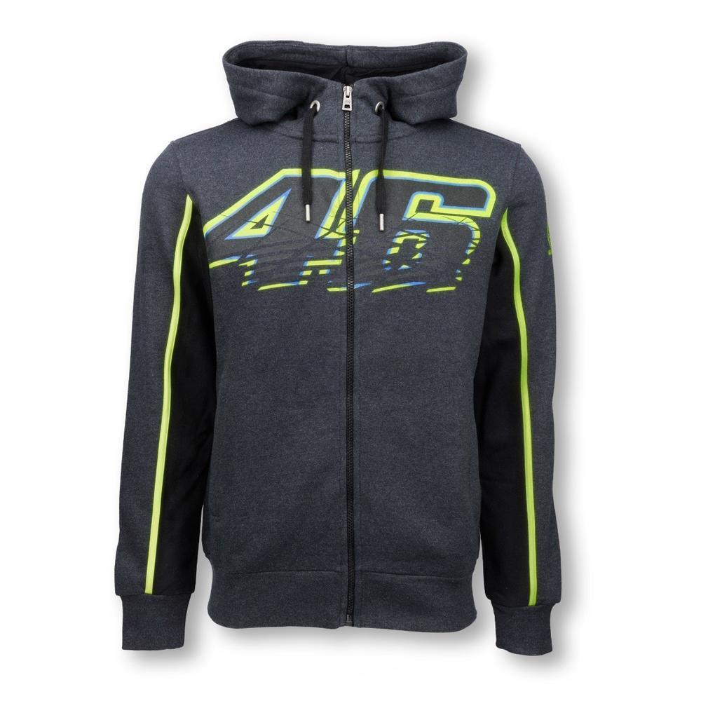 Valentino Rossi Zip up Grey Hoodie | Moto GP Apparel