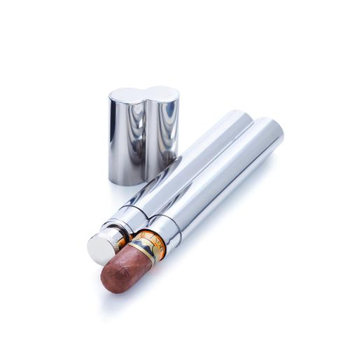 Stainless Steel Cigar Holder and Flask