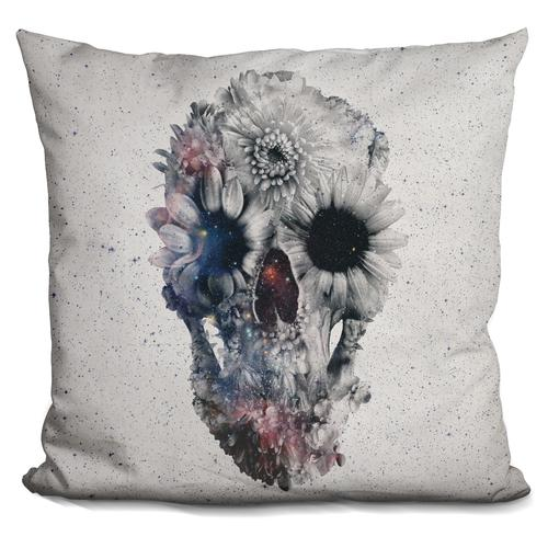 'Floral skull 2' Throw Pillow