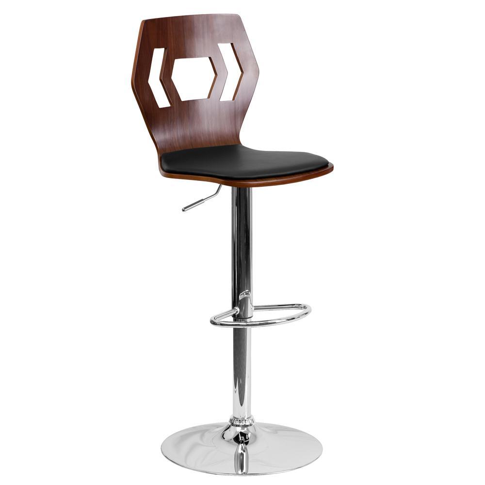 Height Barstool With Black Vinyl Seat Flash Furnitur