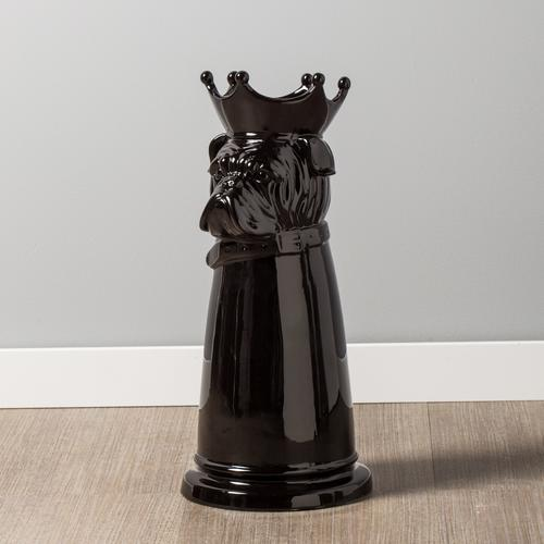 Notable Dog Black Ceramic Umbrella Stand