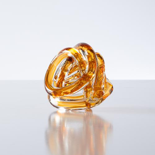 Orbit Glass Decor Ball | Amber