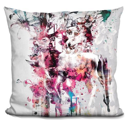 Riza Peker 'Deers' Throw Pillow