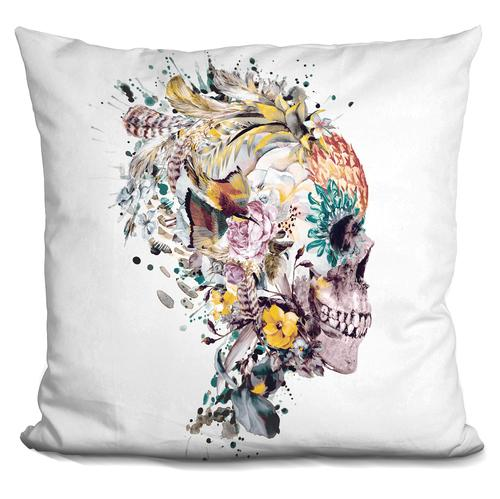 Riza Peker 'Momento Mori VII' Throw Pillow