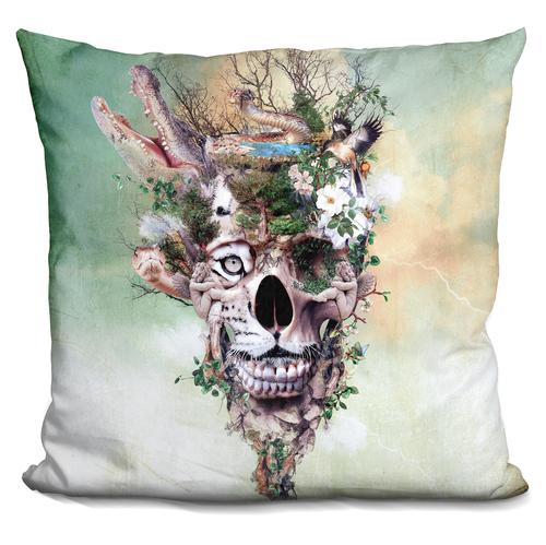 Riza Peker 'Nature Skull II' Throw Pillow