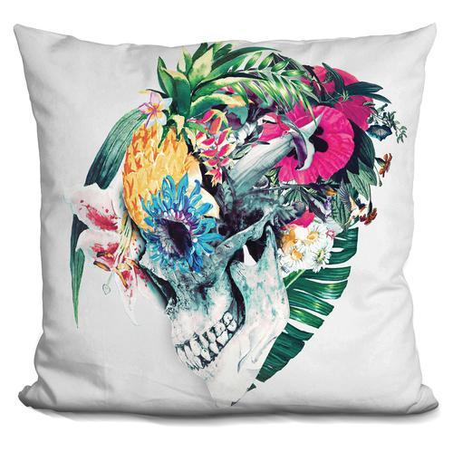 Riza Peker 'Skull ST' Throw Pillow