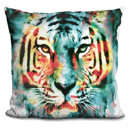 Riza Peker 'Tiger II' Throw Pillow