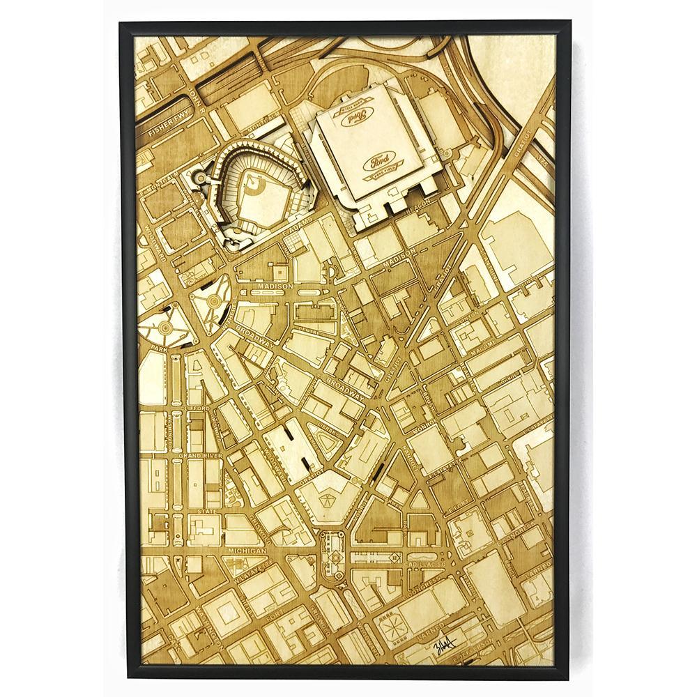 3D Stadium Maps   Detroit, MI