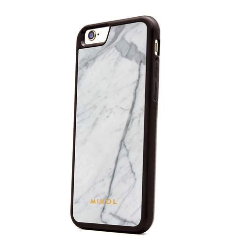 iPhone 7 case   Carrara White with Black Border