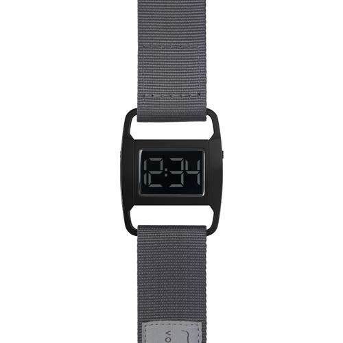 PXR5 Polished Black case | Grey nylon strap